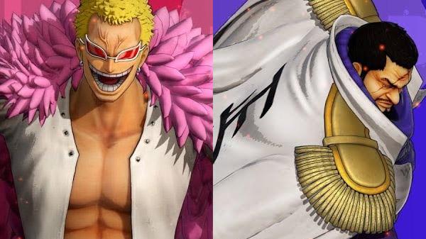 Doflamingo et Fujitora dans le jeu vidéo One piece Pirate Warriors 4