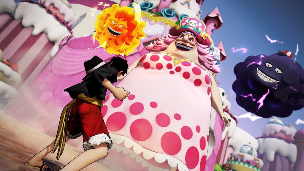 Luffy et Big Mom dans le jeu vidéo One piece pirate warriors 4