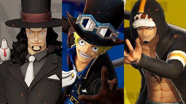Luccy, Sabo et Law dans le jeu vidéo One piece pirate warriors 4