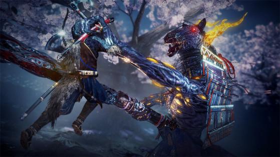 Un combat de boss dans Nioh 2