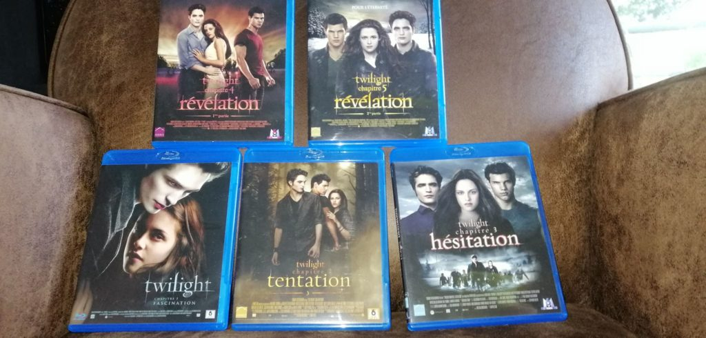 Les cinq films de la saga Twilight