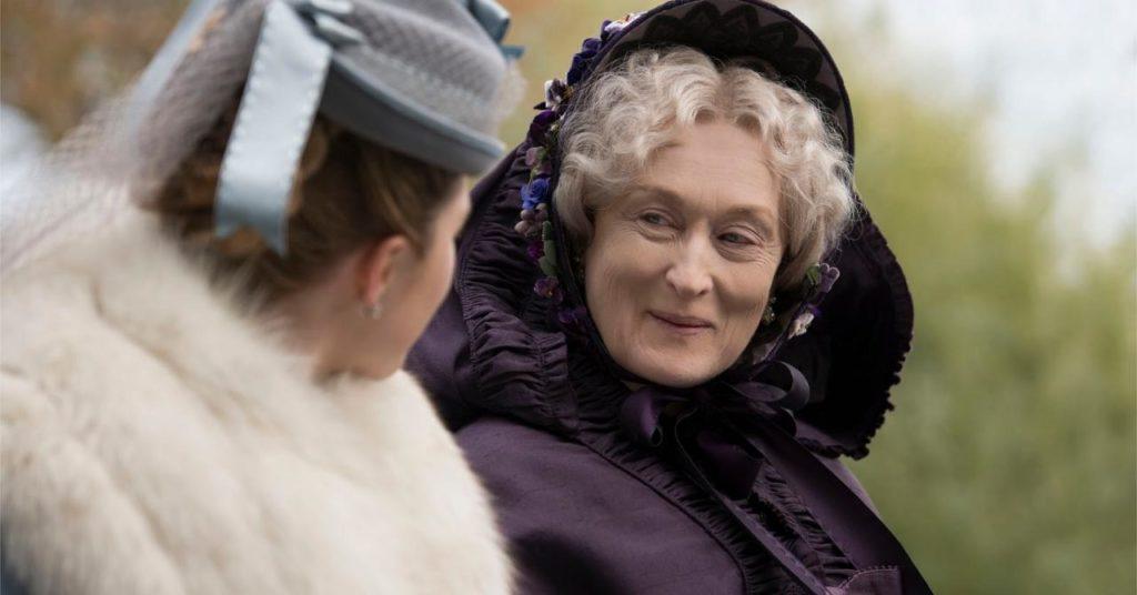 Meryl Streep est Tante March dans les filles du Docteur March